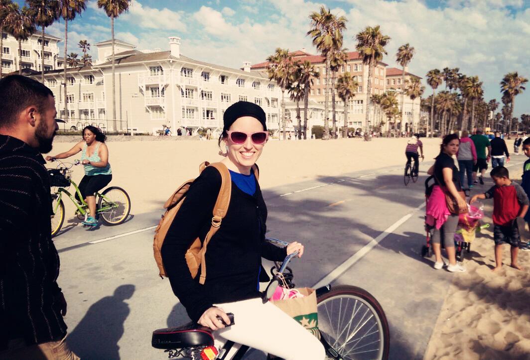 Piste cyclable Santa Monica Californie