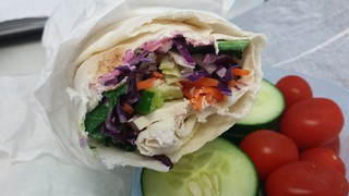 Tofu Rainbow Wrap at Charlie's Raw Squeeze Everton Park