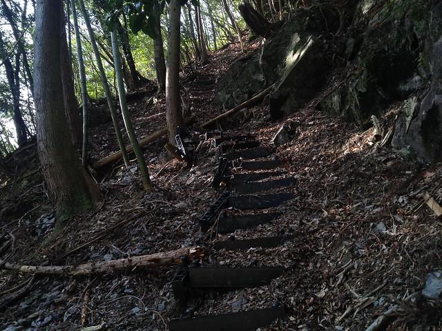 小島山 鉄塔巡視路 階段