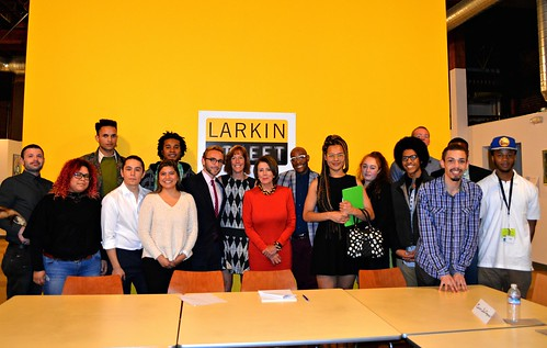 Congresswoman Pelosi joins homeless youth on a tour of Larkin Street Youth Services