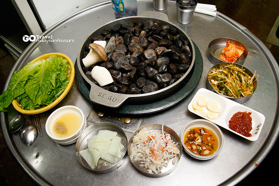 Piggy Bank Stone Grill Korean BBQ at Hongdae Seoul Korea