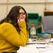 Claire Williamson, Deputy Stage Manager, in rehearsals for The Crucible, Lyceum Theatre