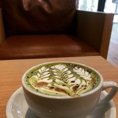 military latte❤︎  #streamercoffeecompany #osaka #japan #latte
