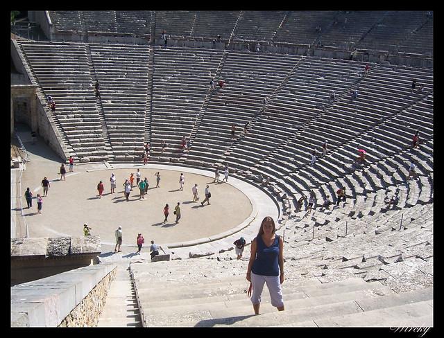 Gradas del teatro de Epidauro