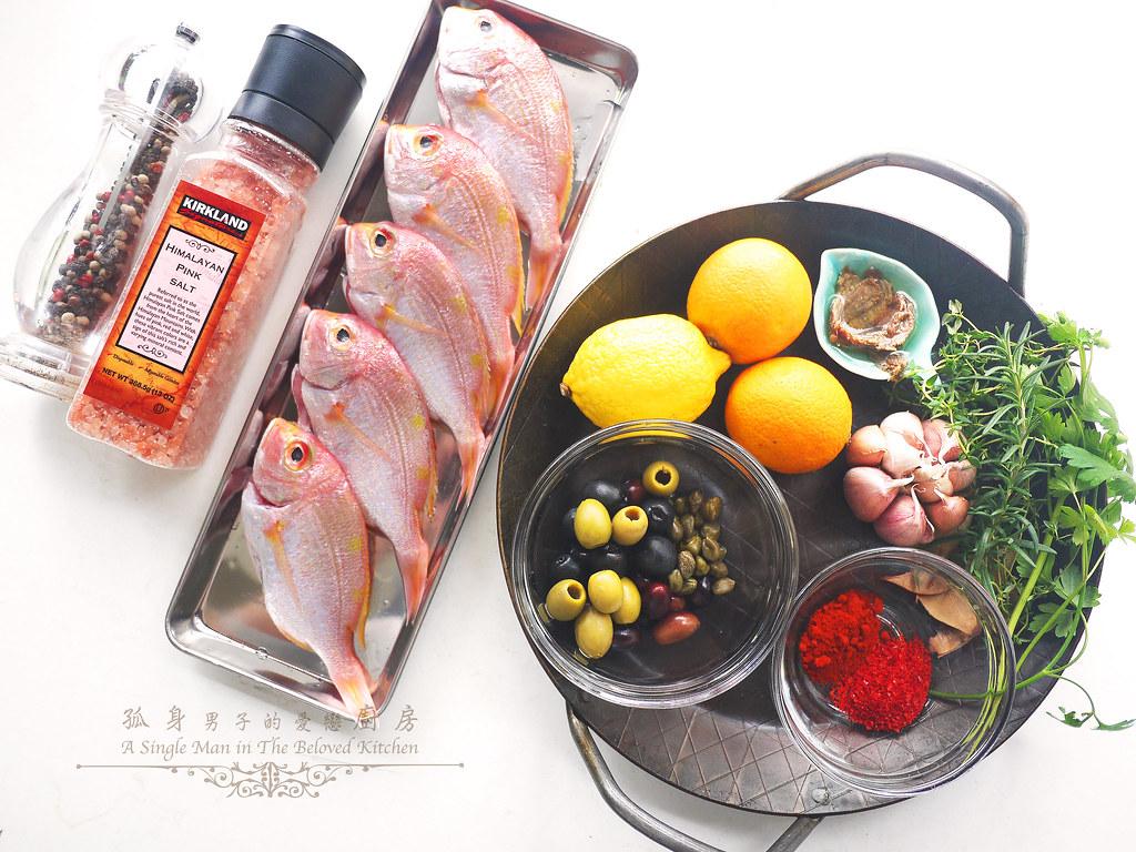 孤身廚房-橄欖柑橘香烤赤鯮2
