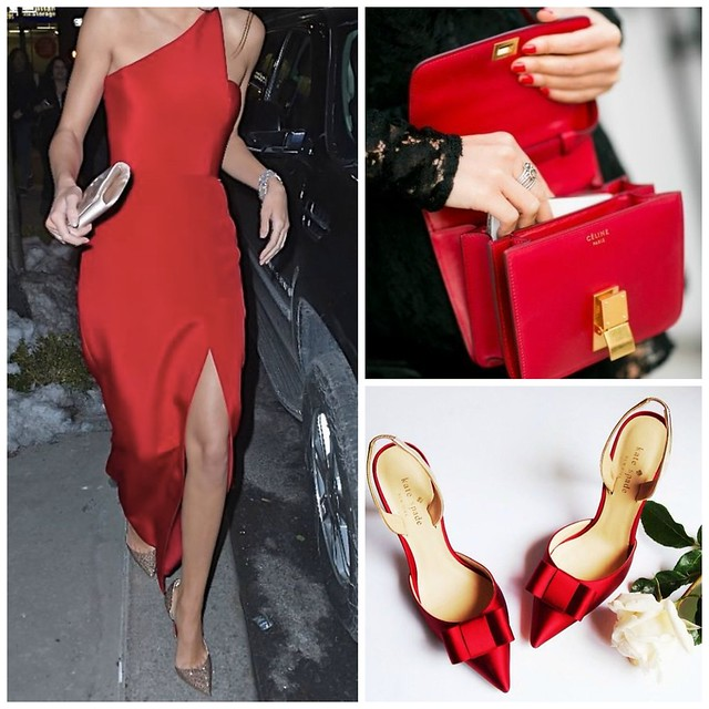 Red+dress+red+bag+red+shoes