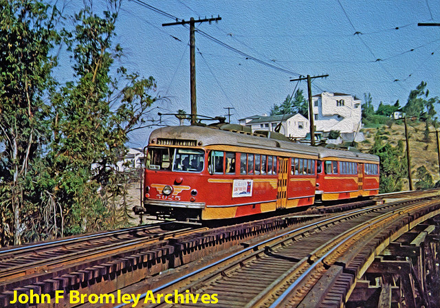 Pacific Electric Railway 5000604 5025+5017 Fletcher Drive Trestle 500602 B L Stone LIGHTROOM OIL PAINT FLICKR