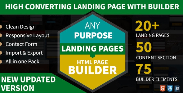 ThemeForest AnyPurpose - Landing Page Builder Template Styles