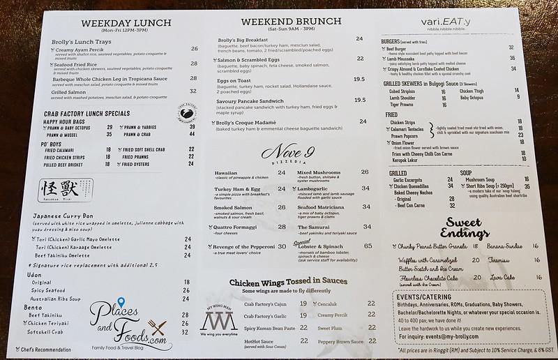 brolly new brunch menu 1
