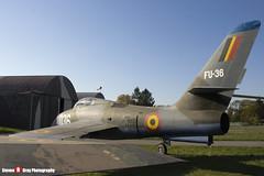 FU-36 036 - 52-7157 - Belgian Air Component - Republic F-84F Thunderstreak - Polish Aviation Musuem - Krakow, Poland - 151010 - Steven Gray - IMG_0623
