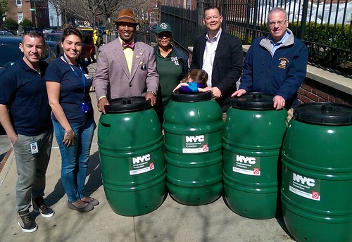 Rain Barrel Giveaway with AM Dinowitz CM Cohen and CM King in the Bronx