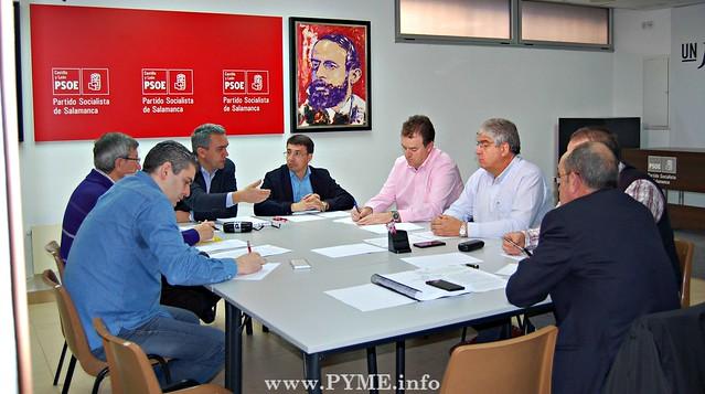 CONFAES conoce las propuestas del PSOE al Plan Director de Promoción Industrial en Salamanca.