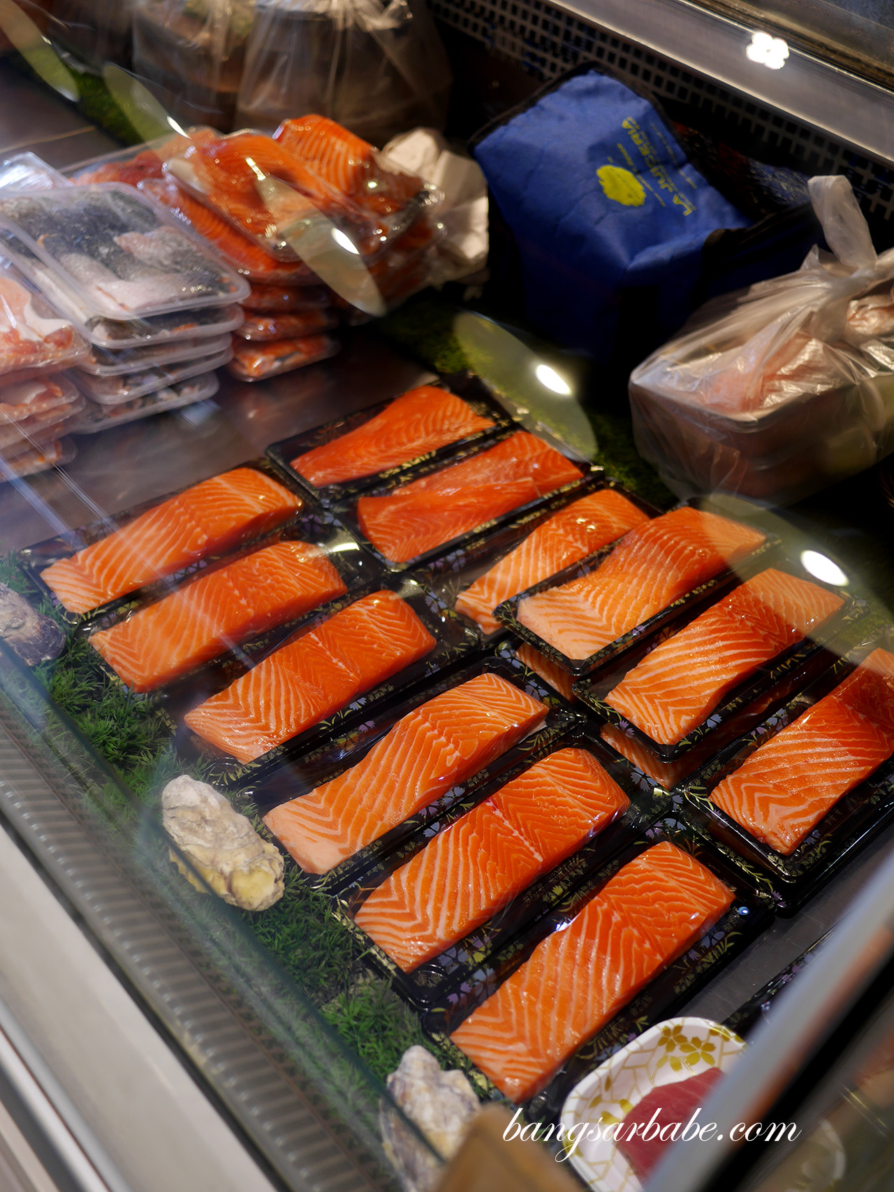 Salmon on display