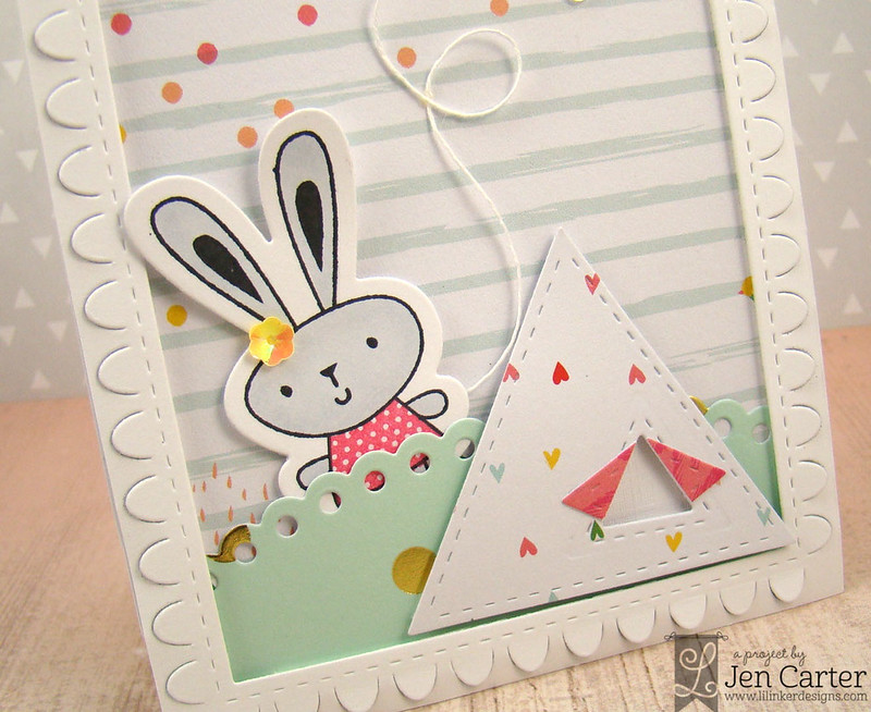 Jen Carter Bunny Flying Kite Tent Closeup 1