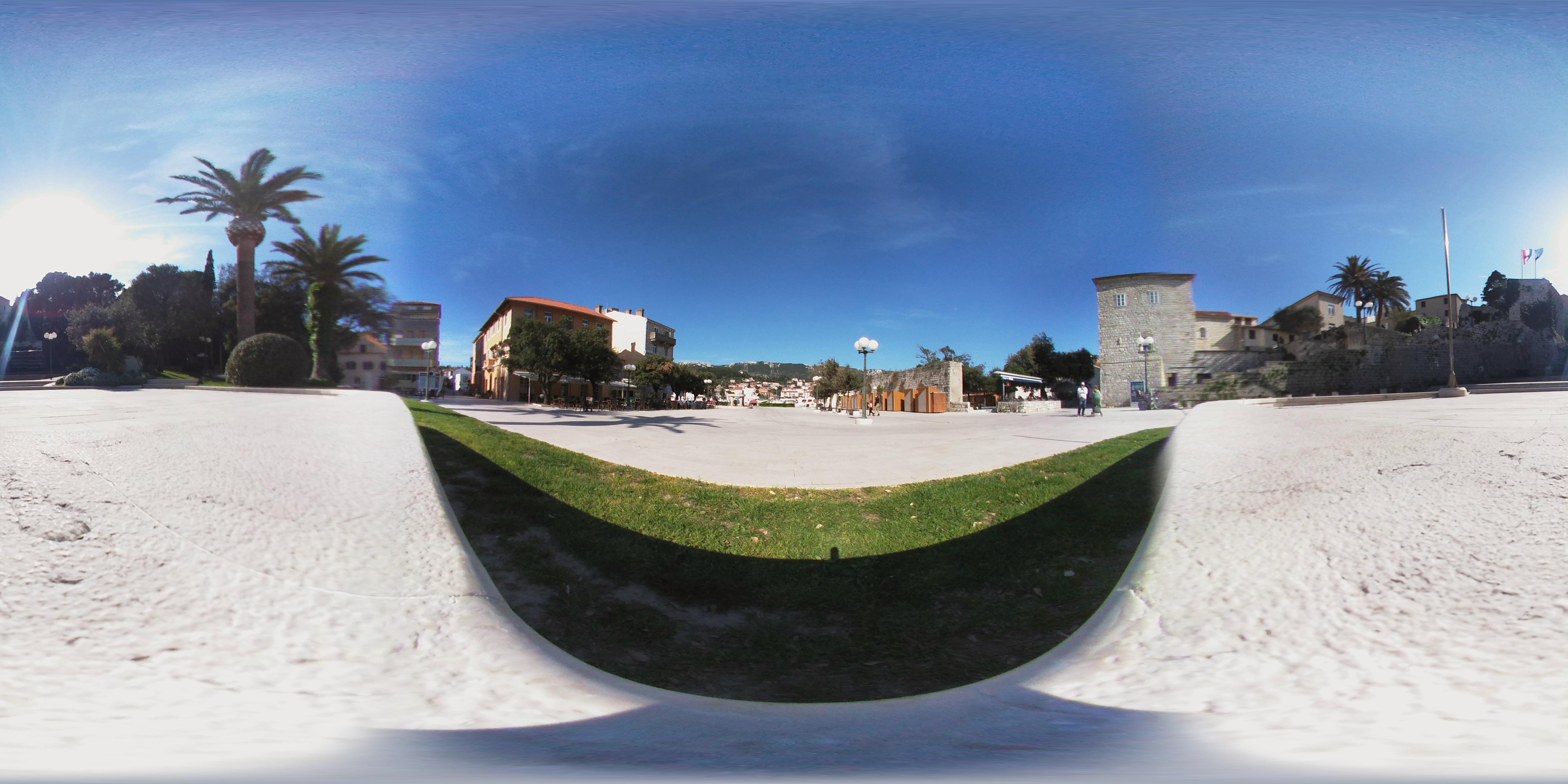 Rab's main city square, the Municipium Arba.