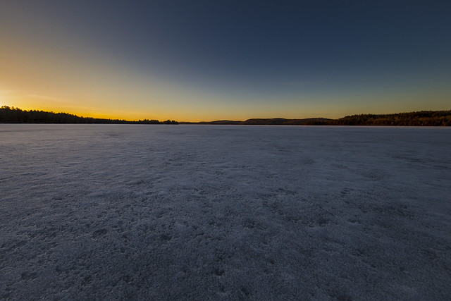 Aylen Lake Ice and Sunset