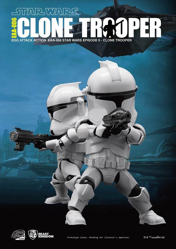 野獸國 Egg Attack Action 系列【共和國複製人士兵】Clone Trooper EAA-006