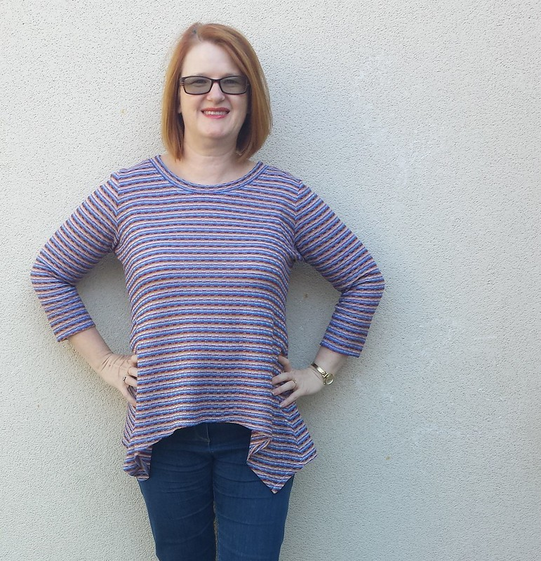 Vogue 9057 view D in knit from Darn Cheap Fabrics
