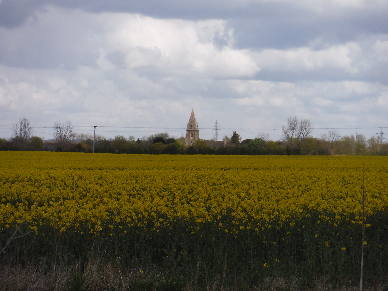 Appleford Church from footpath along Moor Ditch SWC Walk 44 - Didcot Circular