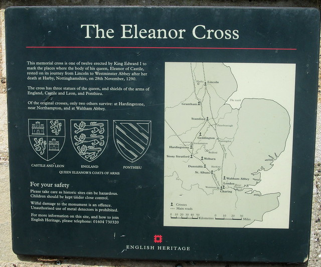 Information Board, Eleanor Cross, Geddington
