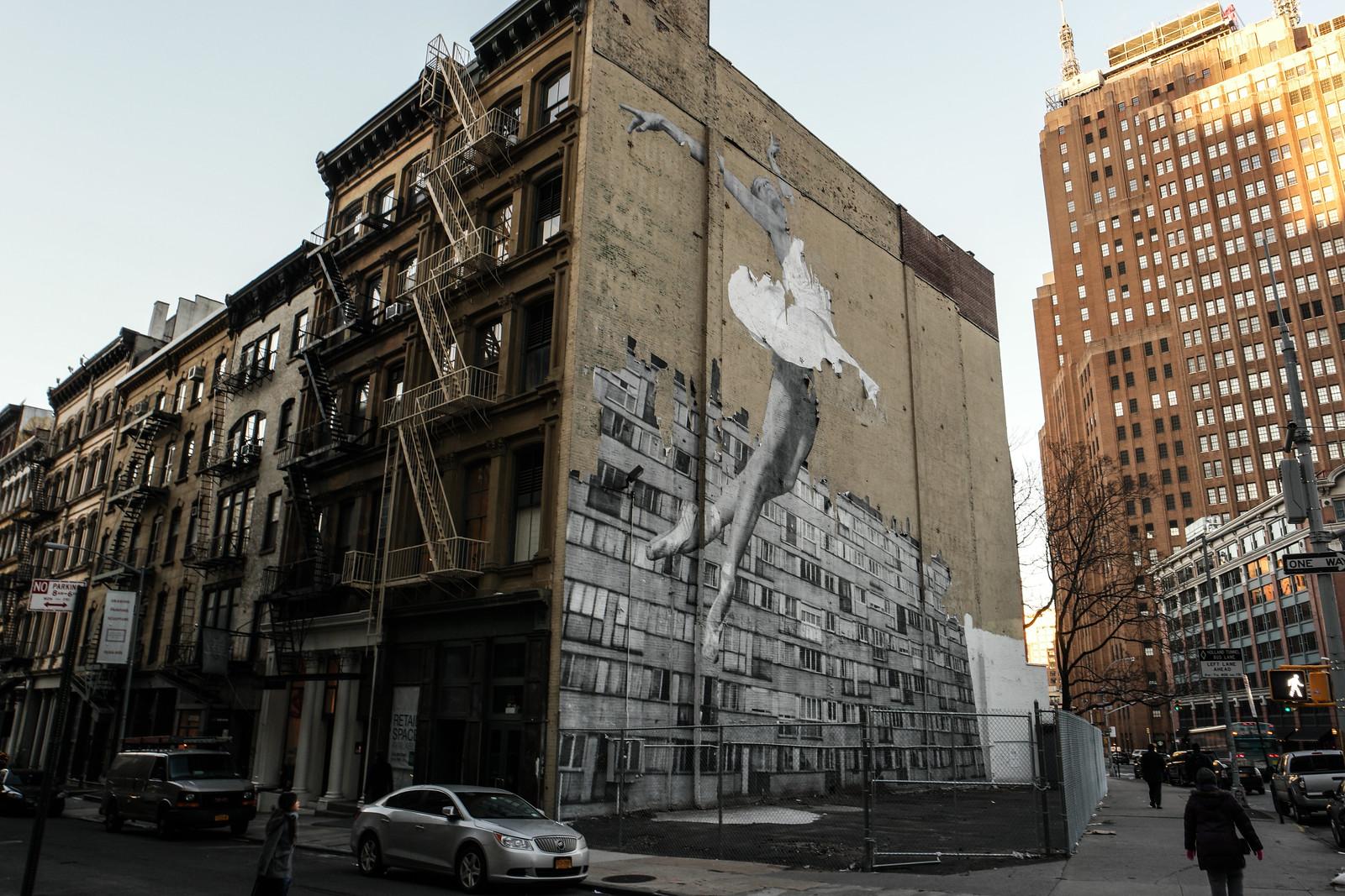 Ballerina on a Building