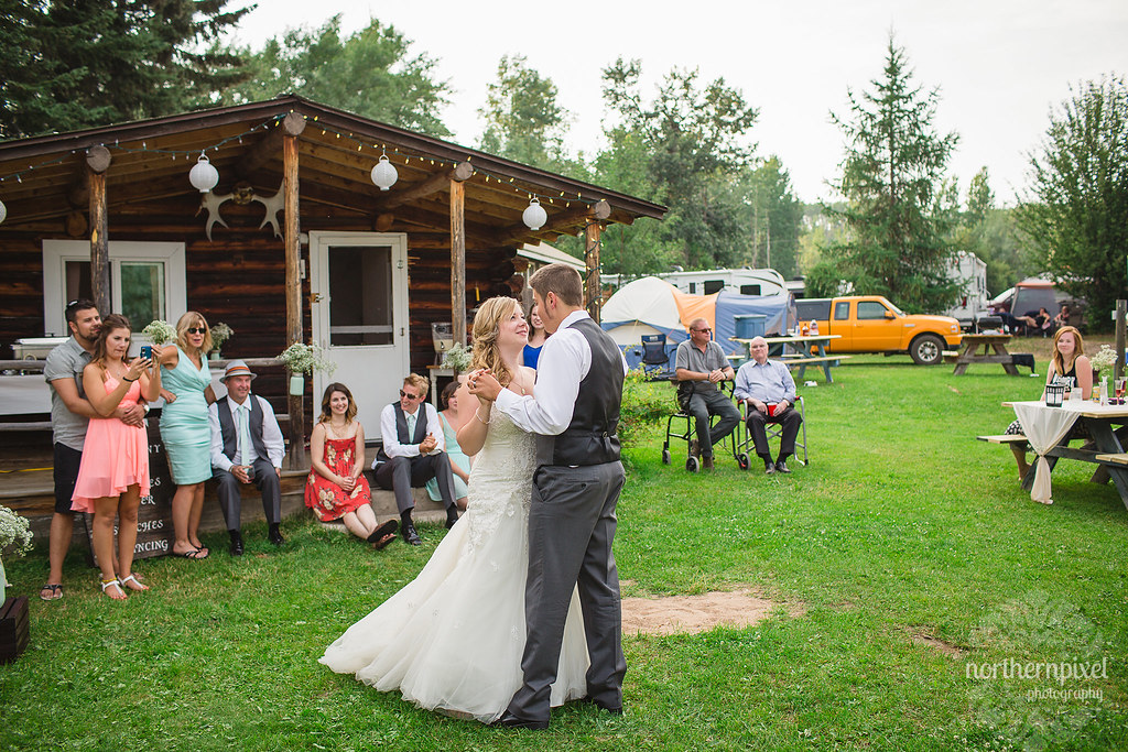 Francois Lake Wedding Reception