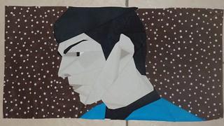 Spock for the Star Trek quilt.
