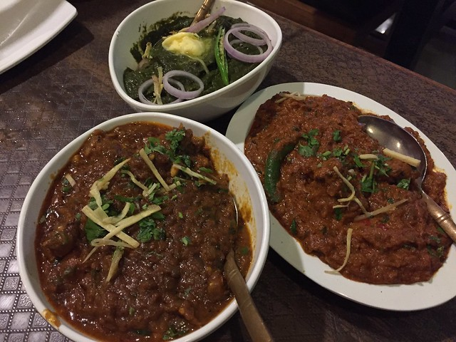 Sarason Ka Saag/Murgh Tikka Masala/Some lamb dish