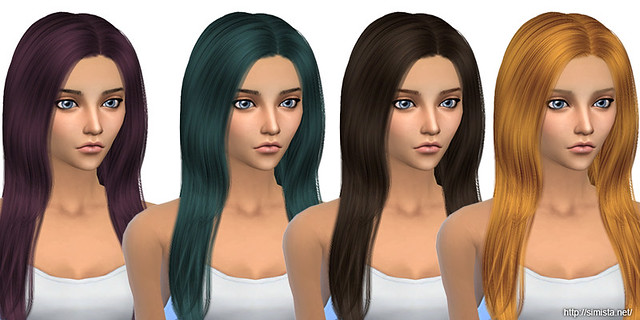 Over The Light Hair Retexture Simista A Little Sims 4 Blog