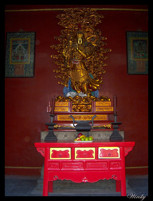 Estatua del guardián celestial Wei Tuo