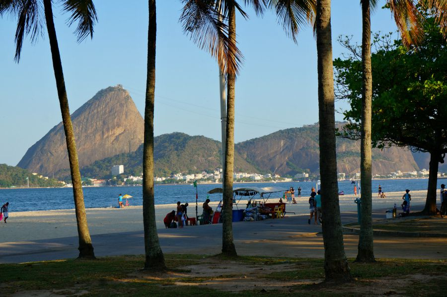 View of Sugar Loaf from Rio Bike Path