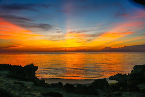 ocean morning sky sun beach nature weather sunrise outside outdoors dawn rocks colorful florida outdoor stuart atlantic tropical houseofrefuge hutchinsonisland