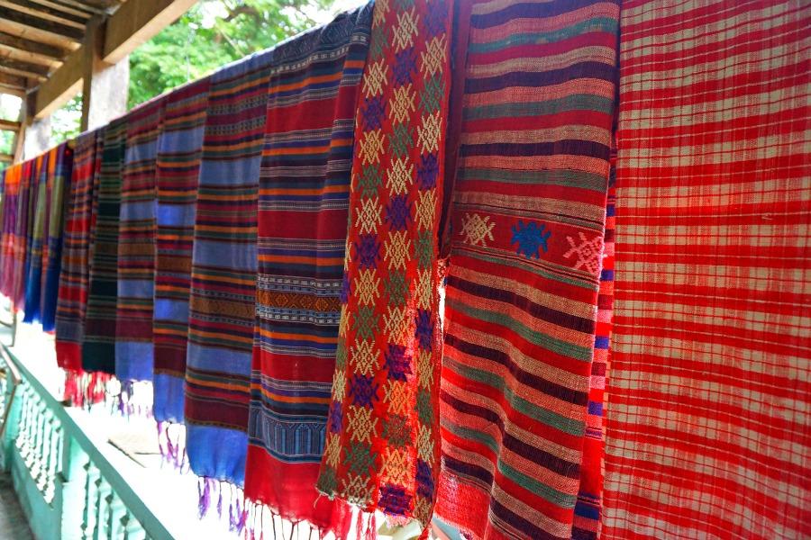 Hand woven silk textiles