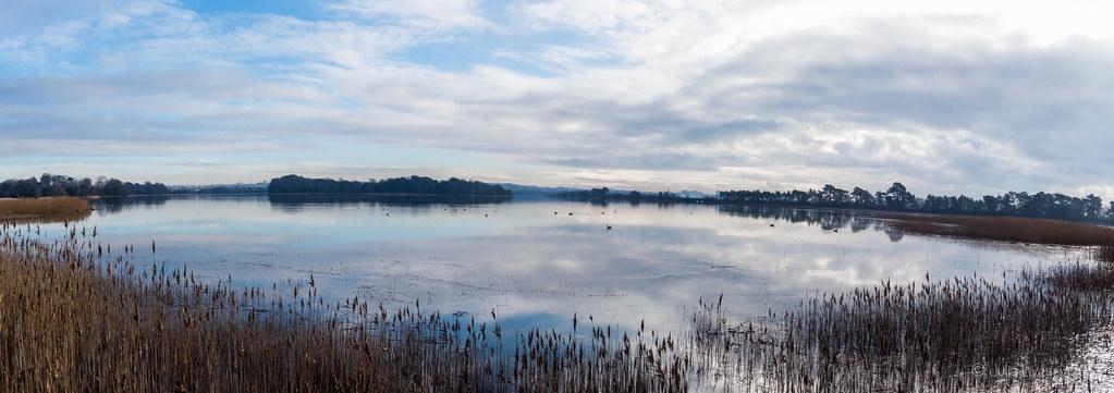 Panorama of Upton Lake with Pergins Island