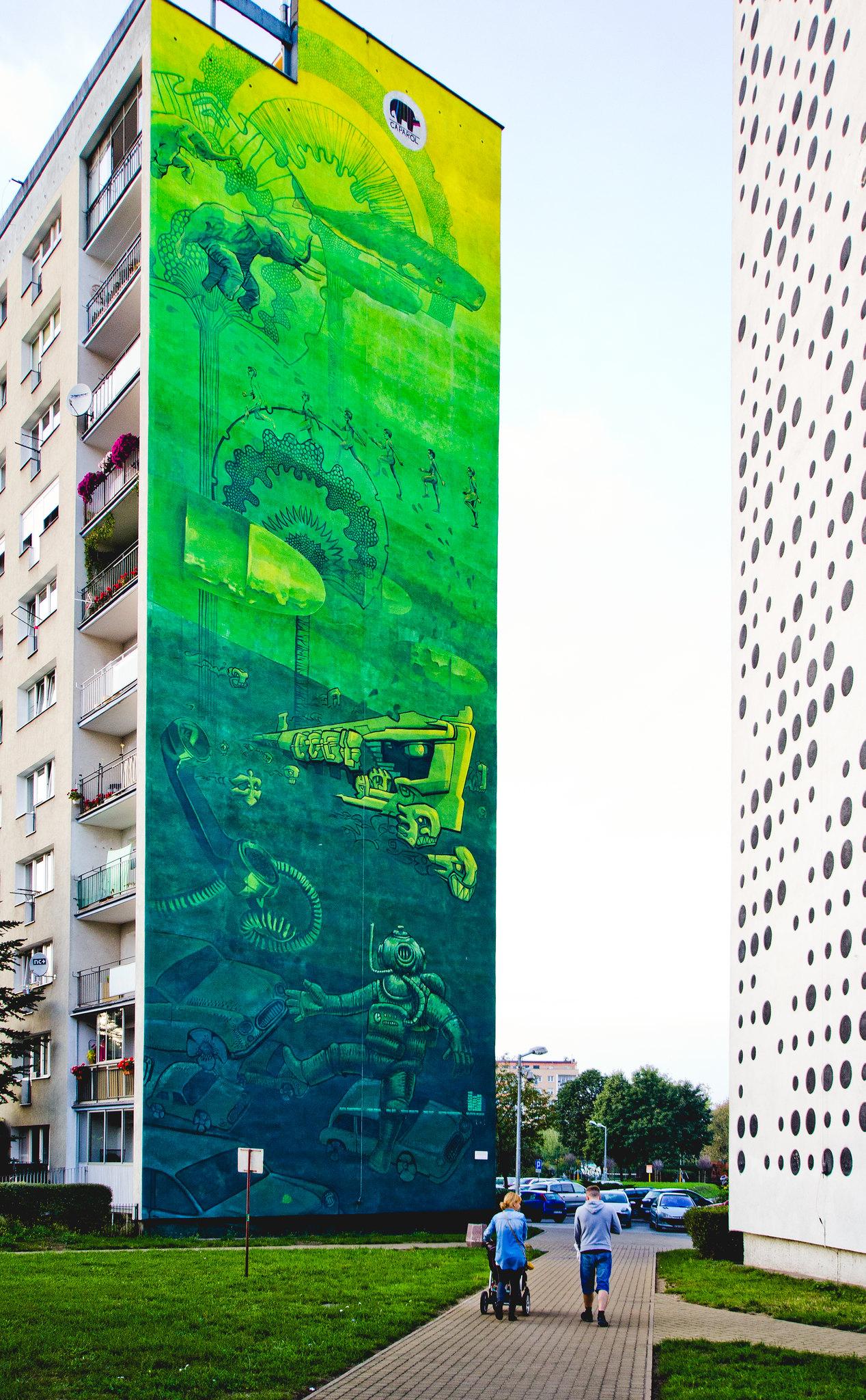 prace zbiorowe  gdańskiej szkoły muralu & PGR ART // gdansk