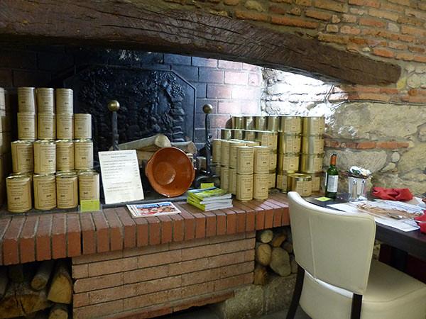 cheminée de l'hôtel du Lauragais