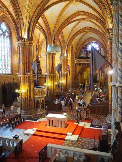 L'interno della chiesa di San Mattia