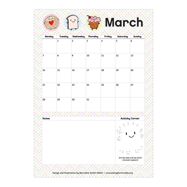 March printable planner