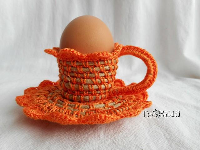porta-uovo tazzina spago e cotone 4