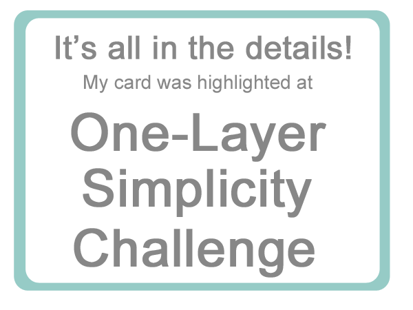 One Layer Simplicity Challenge - Winner