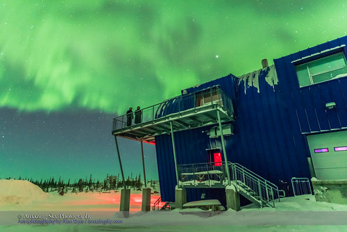 Aurora Watchers on CNSC Deck