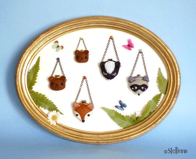 Forest friends purses