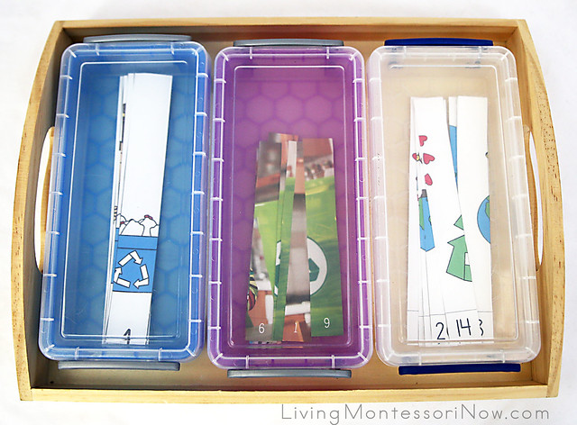 Recycling Number Puzzles for 1-10 and 11-20