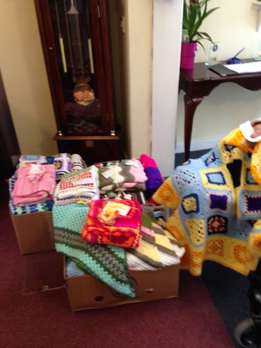 27 Sunshine Blankets 12 Shawls to Maple Dene Care Home, Moseley, Birmingham.