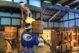 Sake maker 'HAKUTSURU' museum at Nada, Kobe on APR 08, 2016 (6)