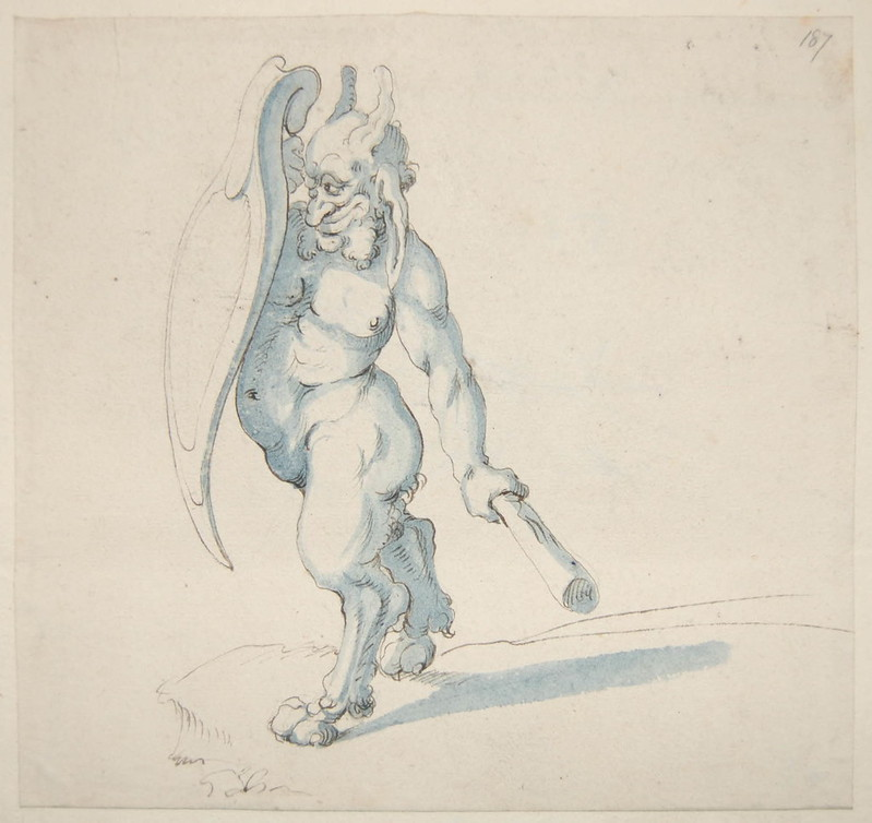 Arent van Bolten - Monster 187, from collection of 425 drawings, 1588-1633