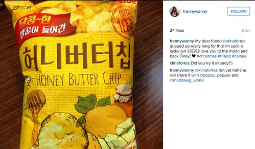 instagram frannywanny calbee honey butter