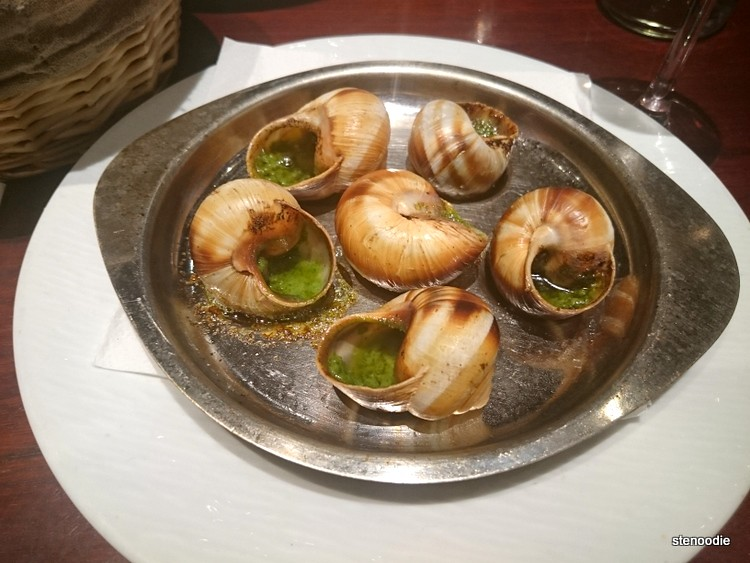 Platter of escargots
