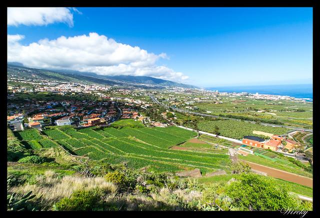 Tenerife la Orotava mirador Humboldt mirador Mataznos - Panorámica desde mirador de Humboldt