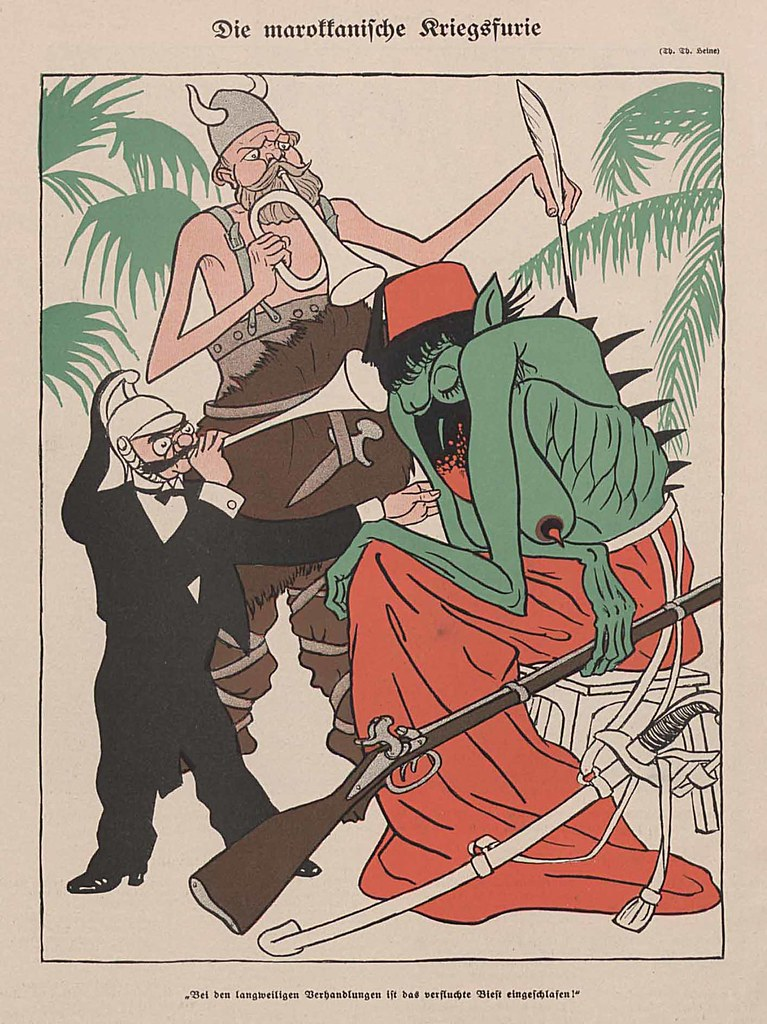 Thomas Theodor Heine - The Moroccan War Fury, 1911